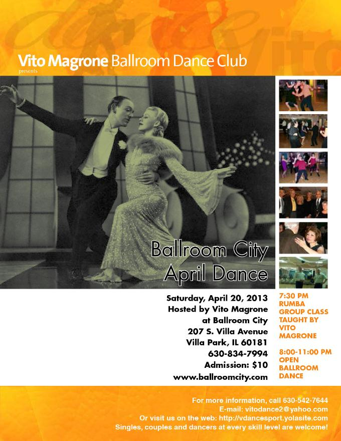 Vito Magrone hosts a monthly dance at Ballroom City. Click here to download the PDF file.
