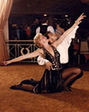 Vito Magrone at a professional ballroom dance competition.