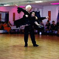 Vito Magrone at a showcase with one of his ballroom dance students.